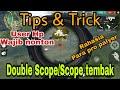 TUTORIAL DOUBLE SCOPE / SCOPE TEMBAK | FREE FIRE BATLLEGROUNDS