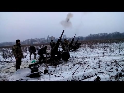 22 01 2015 Avdiivka town. Ukrainian forces shelled Spartac village.
