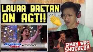 Laura Bretan: 13 Year Old Opera Singer Gets the Golden Buzzer - America's Got Talent | REACTION