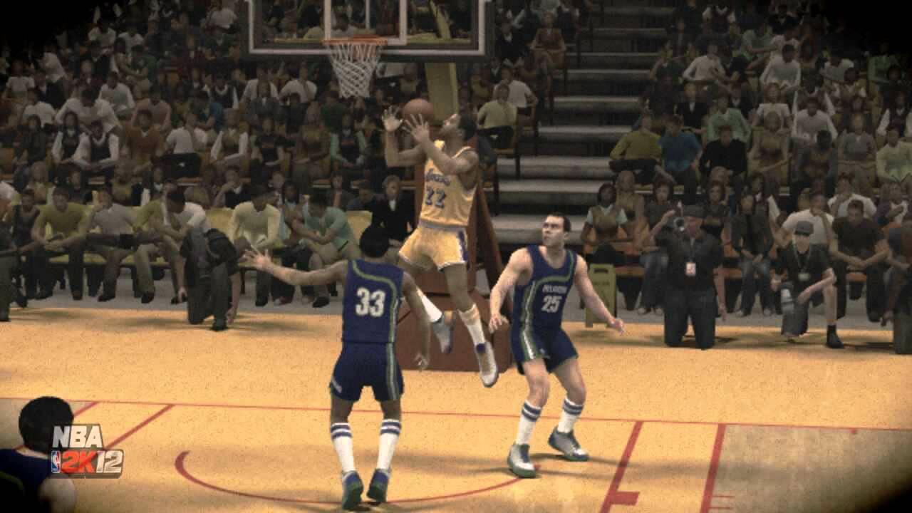 Elgin Baylor Pump Reverse Dunk NBA 2K12