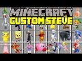 Minecraft CUSTOM STEVE MOD! | PLAY AS ANIME STEVE, RED STEVE, & MORE! | Modded Mini-Game