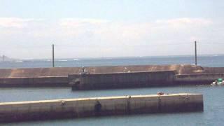 平成23年台風6号が近づく和歌山みなべの海