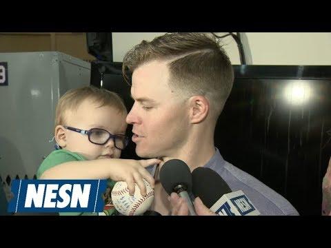 CUTENESS ALERT! Brock Holt's Son Crashes Press Conference