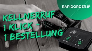 RAPIDORDER, Kellnerrufsystem & Auswertungstool: Der Orderbutton.