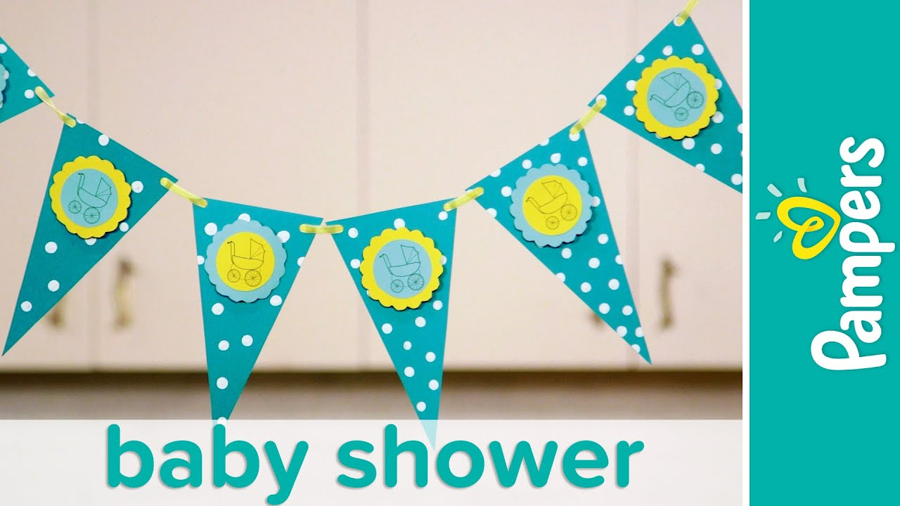 Baby Shower Ideas: Stroller Banner (Party Decorations ...