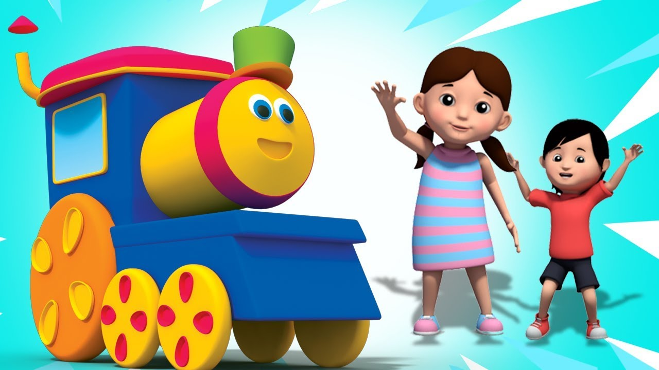 Bob El Tren | Carril de chocolate | Rimas infantiles | Bob The Train In Chocolate Lane | Kids Songs