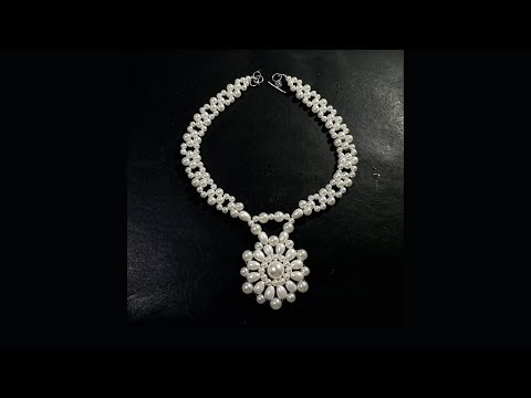 Pearl Necklace with Pearl Pendant Tutorial Fashion Jewelry