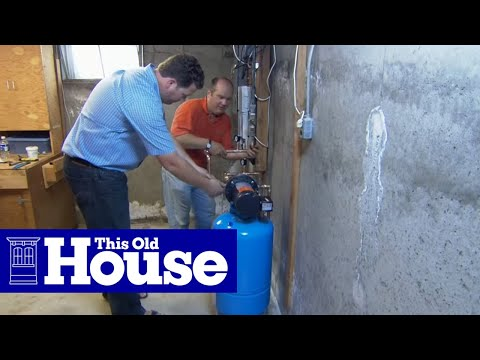 How to Install a Water Pressure Booster - This Old House