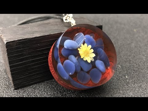 Resin art DIY| Charming DIY colored stone pendant | DIY jewelry pendant for Epoxy RESIN