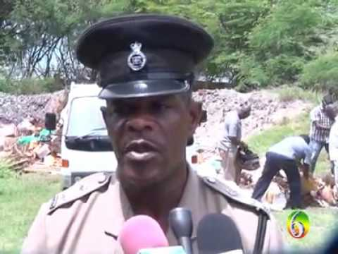 Marijuana and cocaine goes up in flames in Grenada