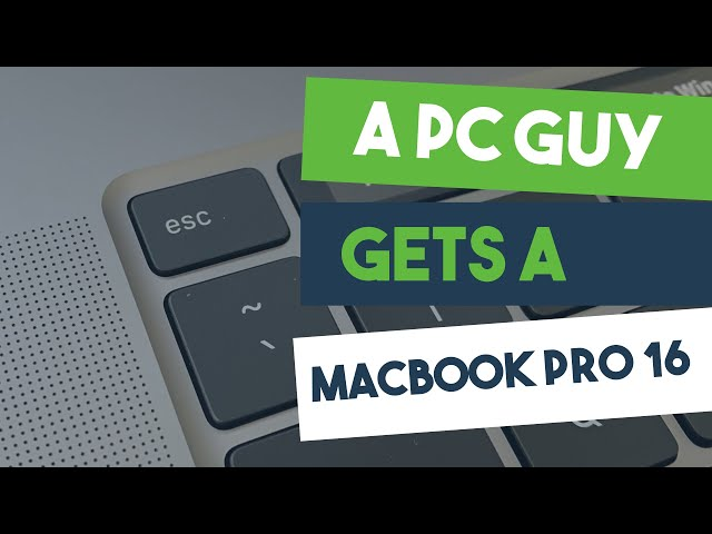 A PC Guy Gets a MacBook Pro 16!!!