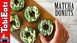 No-Knead BAKED MATCHA DONUTS (Matcha Green Tea Recipes)