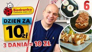 DZIEŃ ZA 10 ZŁ Z BIEDRONKI - kuchnia hardcorowego studenta - TYLKO 5 SKŁADNIKÓW [odc. 6]