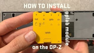 How to install the oplab Module on OP-Z - quick guide