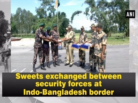 Sweets Exchanged Between Security Forces At Indo-Bangladesh Border - West Bengal #News