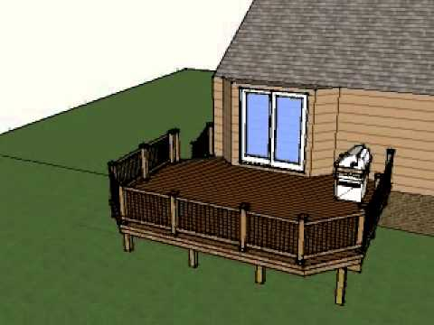 16x20 trex deck youtube for 16x20 deck plans