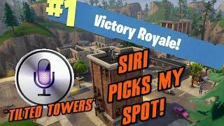SIRI PICKS MY LANDING SPOT IN FORTNITE! (Fortnite Battle Royale)