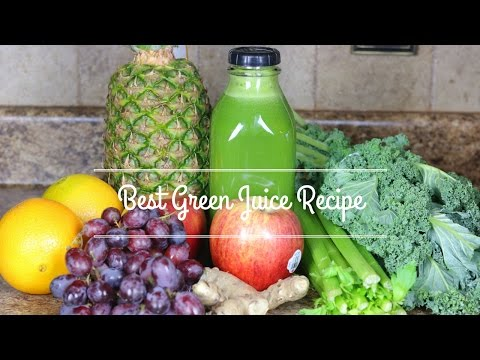 BEST COLD PRESS JUICE RECIPE| GREEN JUICE