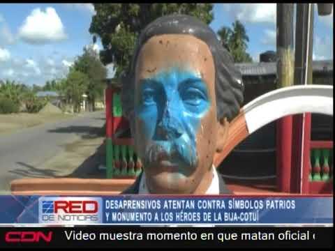 Atentan contra símbolos patrios en Cotuí