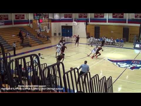 Stevie Jackson Jr Basketball Mid season Highlights Oakland mills high school