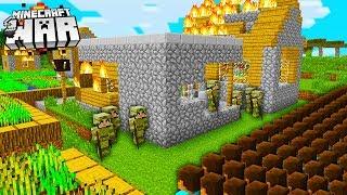 raiding another RIVAL Minecraft players VILLAGE! (Minecraft War #2)