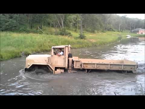 5 TON MILITARY TRUCK DRIVING THROUGH POND