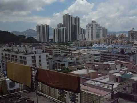 Rooftop View of Nanshan section of Shenzhen China - July 201
