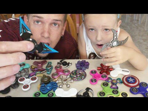 Huge Fidget Spinner Giveaway - Deadly, Dangerous, LED Programmable, Metal, & Plastic Hand Spinners 🔴