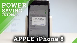 How to Enable Battery Saver in APPLE iPhone 8 - Low Power Mode |HardReset.Info