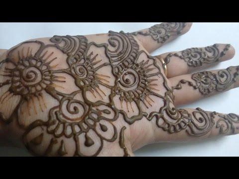 simple mehndi design for hands festival special 2015-easy henna design.