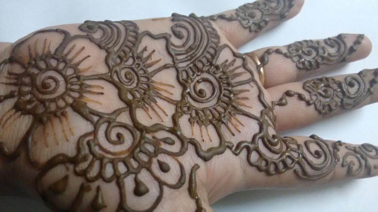 Mehndi Designs Latest Simple : Simple mehndi design for hands festival special easy henna