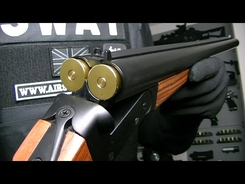 HAW SAN HS MAD MAX DOUBLE BARREL SHOTGUN LONG / AIRSOFT / Hwasan