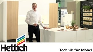 Technology For Furniture In The Kitchen: Hettich Drawer Systems, Sliding Door Systems + Hinges