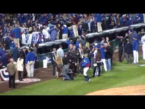 "Wrigley Crowd Sings ""GO CUBS GO"" @ Game 2 Of 2016 NLDS"