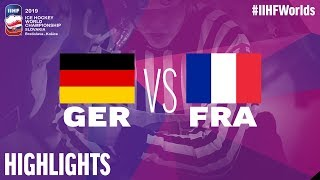 Germany vs. France - Game Highlights - #IIHFWorlds 2019