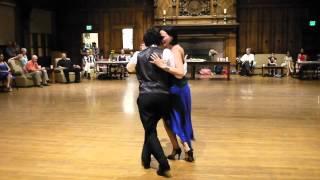 Fernanda Ghi y Guillermo Merlo dancing to