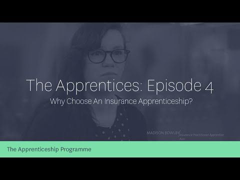 What does an insurance apprentice do?