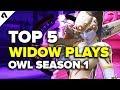 Top 5 Widowmaker Plays | Overwatch League Season 1