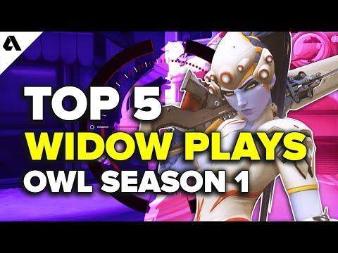 Top 5 Widowmaker Plays | Overwatch League Season 1 thumbnail
