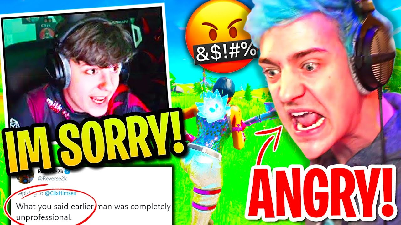 Clix is Deeply Sorry to Ninja & IMMEDIATELY Feels KARMA for ROASTING his BEST FRIEND!