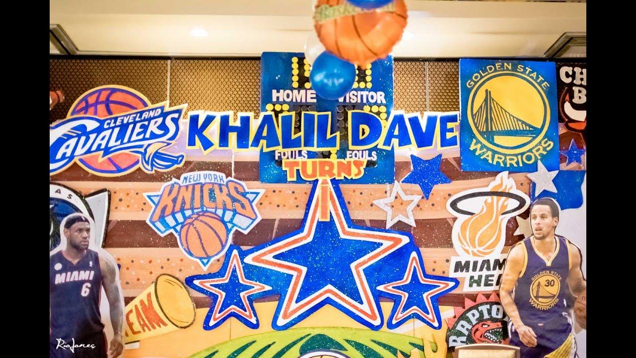 khalil s nba basketball 1st birthday party youtube