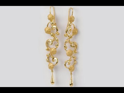 Gold Earrings Designs Beautiful Collection