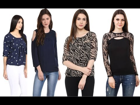 Beautiful Designer Tops Designs For Girls 2018 Youtube