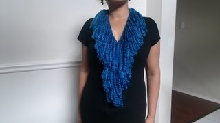 Repeat youtube video How to make no crochet or knit scarf (quick and easy)