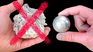 how to make a metal ball gallium not foil