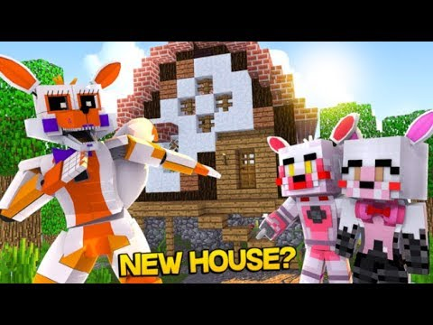 Lolbit invites her kids to live with her!!! (Minecraft Fnaf Daycare)