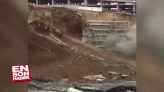 Devasa Istinat Duvarı Böyle çöktü