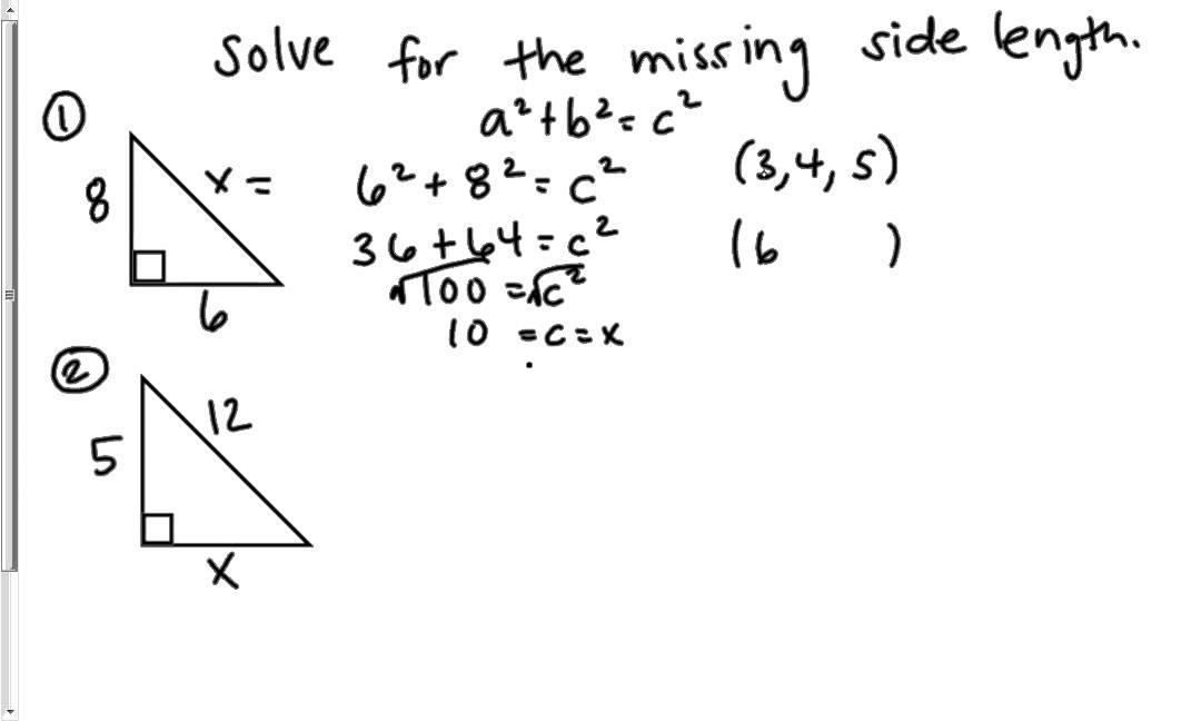 Pythagorean Theorem Practice Youtube