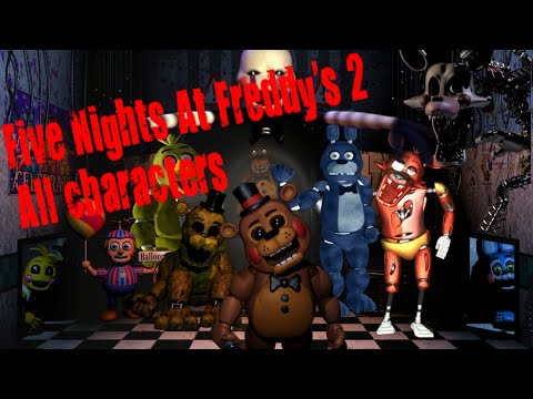 5 nights of freddy characters