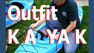 Kayak Rod Holder Install Swivel / Ratchet Mount Diy Fishing Pole Holder